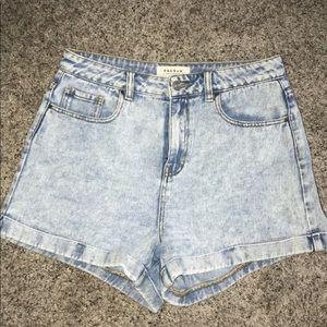Pacsun shorts acid wash